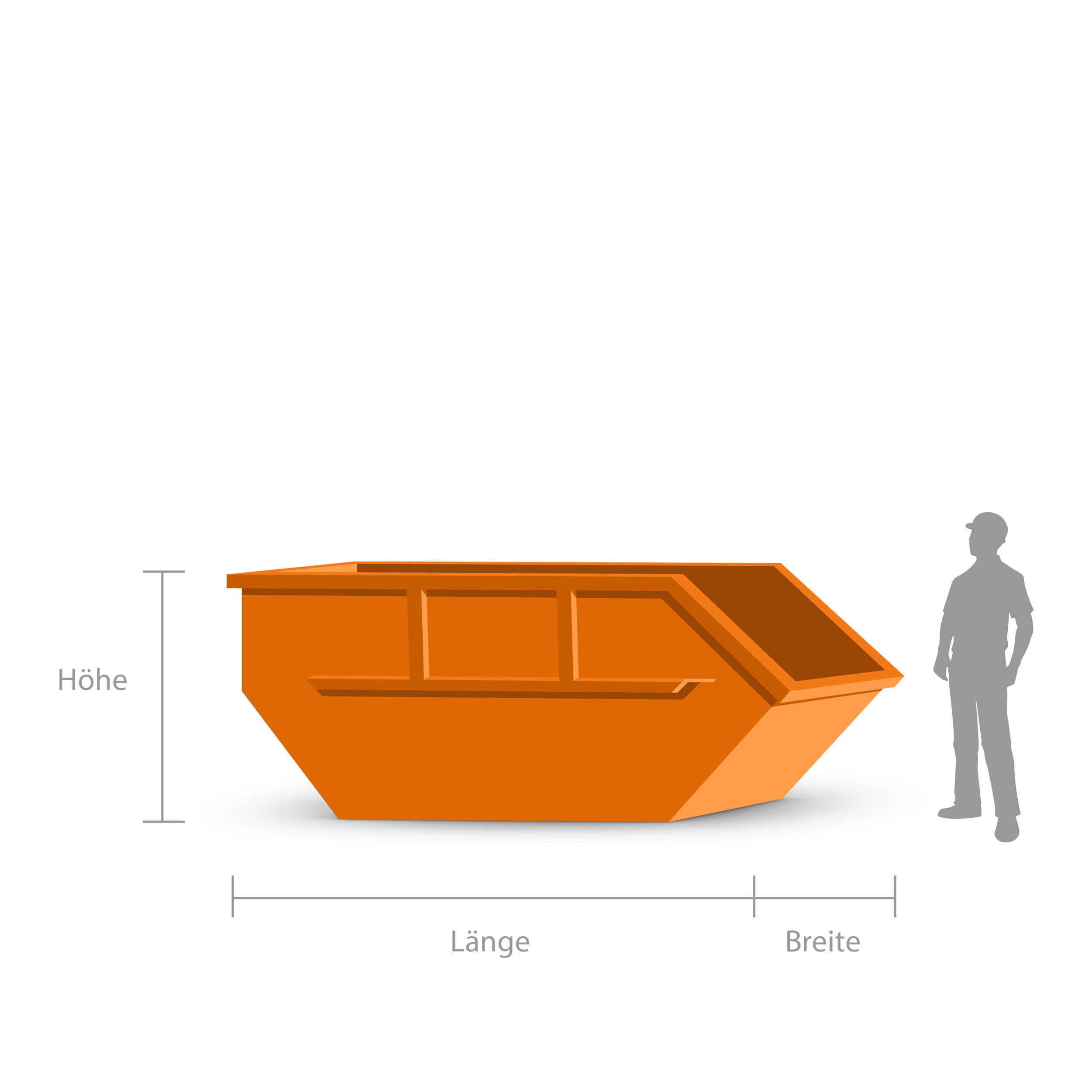 7 cbm container f r gr nabfall online bestellen. Black Bedroom Furniture Sets. Home Design Ideas